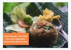 Nasi Goreng at Villa Nilaya Bali near Candi Dasa