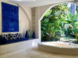 the garden bathroom at Villa Nilaya Bali Near Candi Dasa