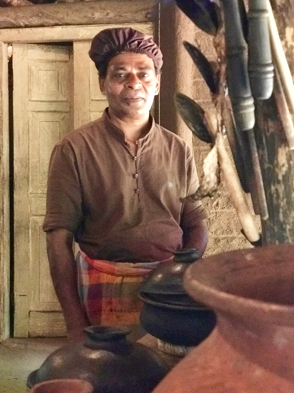 Sunil in his traditional ktchen of clay pots and wood-fired ovens