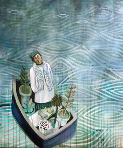 Cate Edwards  painting of the boatman