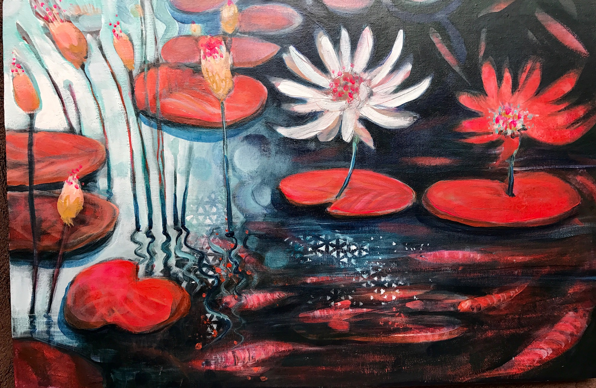 Paintng made on  on  a Cate Edwards Art