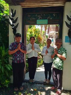 Villa Nilaya Bali Near Candi Dasa staff Kadek, Ketut, Nengah, Wayan