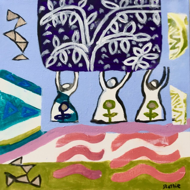 Paintng made on  on a Cate Edwards Art r