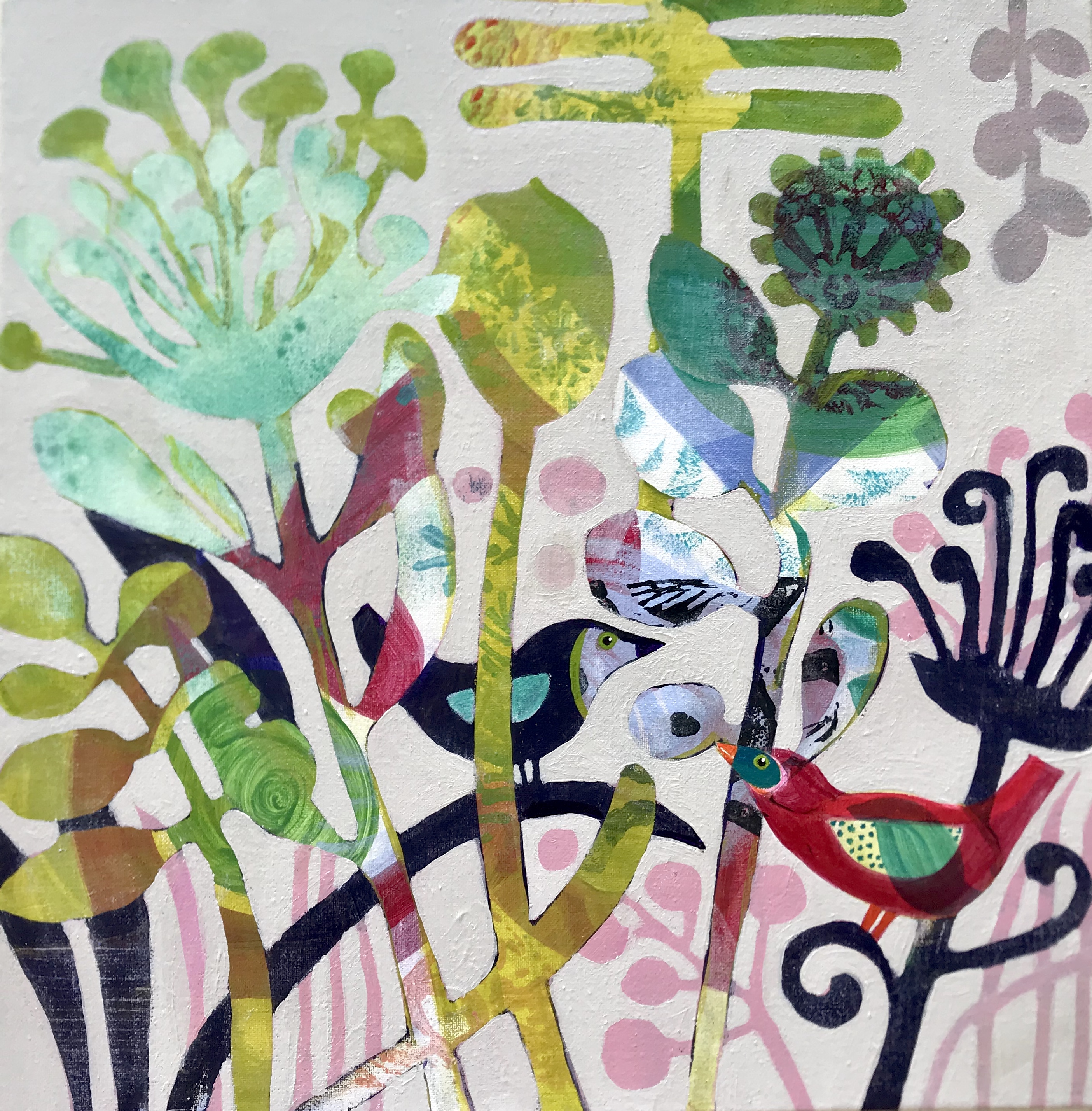Painting made on a cate edwards Art retr