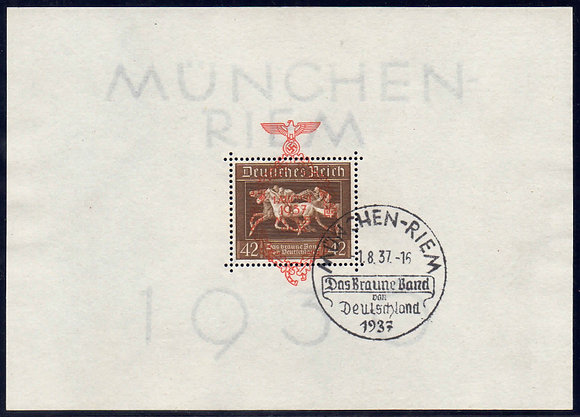 Deutsches Reich Mi.-Nr. Block 10 (649) Befund gestempelt (Michel 130€)