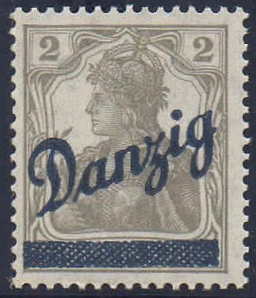 Danzig Mi.-Nr. 32 Attest postfrisch (Michel 500€)