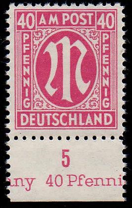 AM Post Mi.-Nr. 30dA UR Attest postfrisch (Michel 550€)