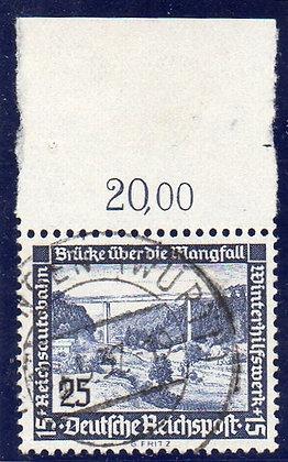 Deutsches Reich Mi.-Nr. 641x OR  Attest  gestempelt  (Michel 850€)