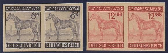 Deutsches Reich Mi.-Nr. 857 P und 858 P I Attest (Michel 800€)