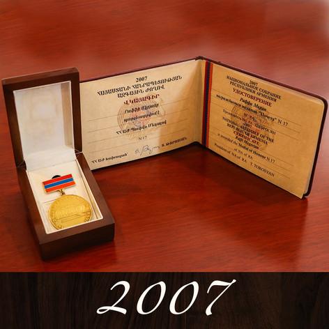 Armenia's Gold Medal of Honor