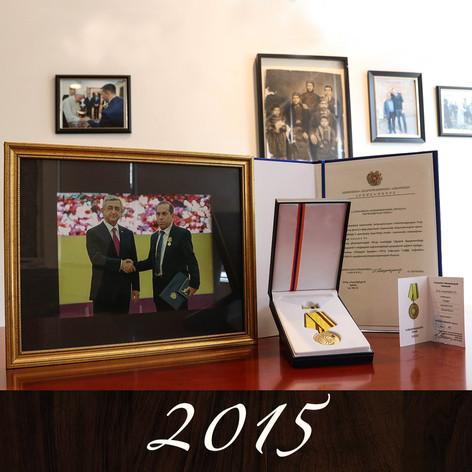 Raffi Megerian awarded National Medal of Honor