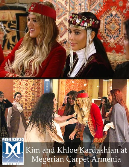 Kim Kardashian at Megerian rugs Armenia