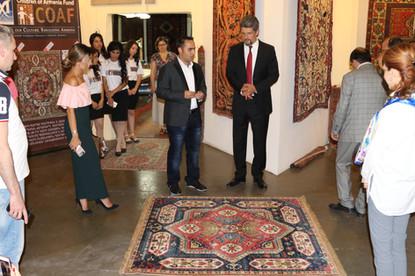 Garo Paylan visits Megerian Carpet Armenia