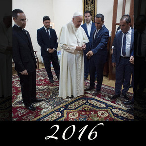 Megerian and Pope Francis meet