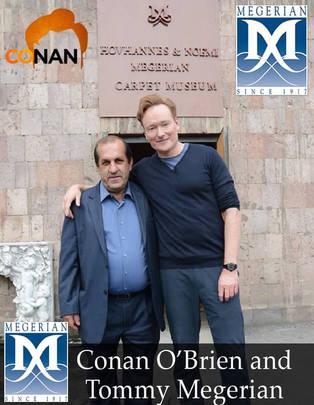 Conan Obrien at Megerian Rugs Armenia