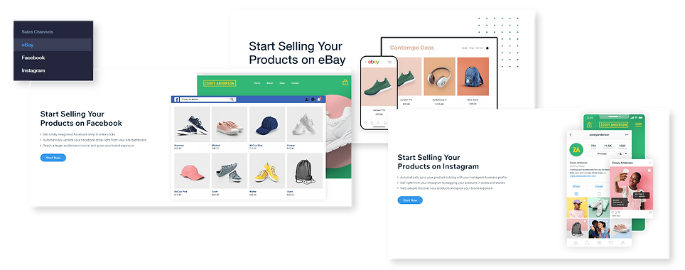 set up sales channels Wix