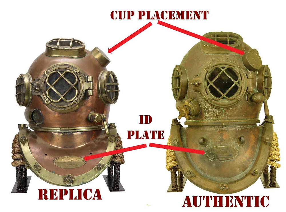 US Navy Mark V diving helmet