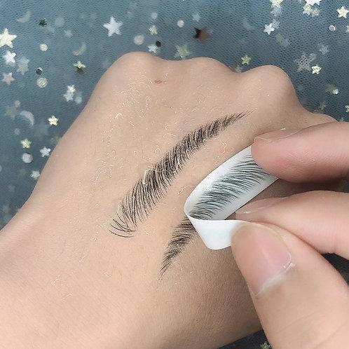 Hair Like Eyebrow Sticker Tattoo
