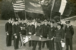 Officers with Flags