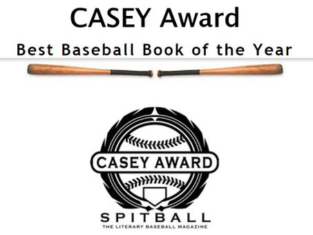 Cloudbuster Named Casey Award Finalist for Best Baseball Book of the Year