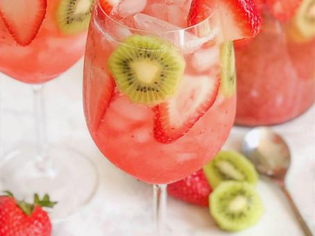 Sparkling Strawberry Kiwi Punch