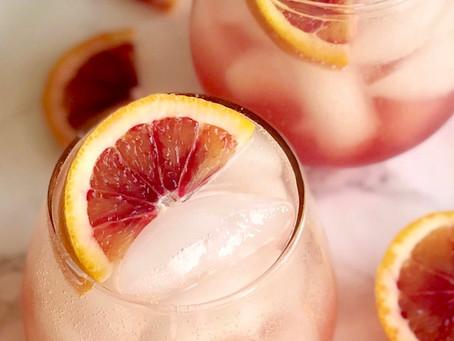 Sparkling Blood Orange Mocktail