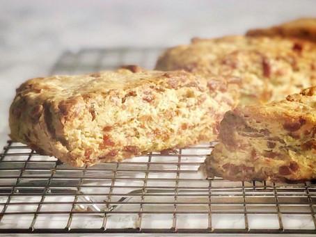 Bacon Cheddar Chive Scones