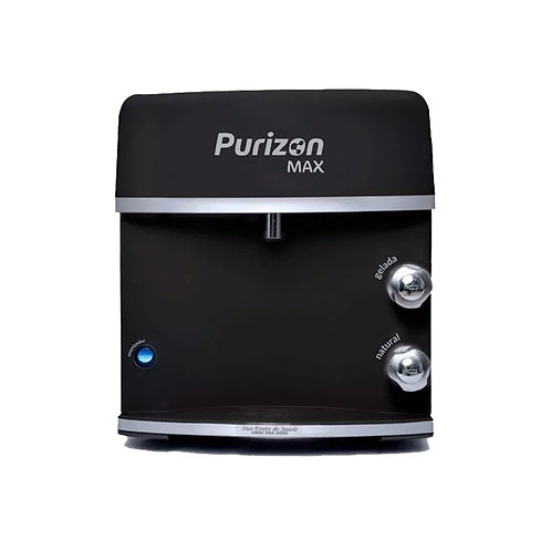 Purificador de Água Gelada Purizon Max | Ozônio, Alcalino e Bacterioló - Preto