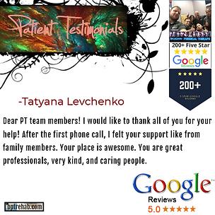 bpt - google testimonial - Tatyana Levch