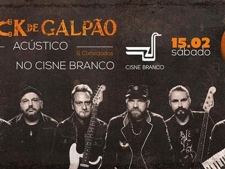 Projeto Rock de Galpão e Convidados no Barco Cisne Branco