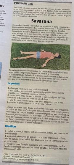 La Minute Zen dans La Dordogne Libre