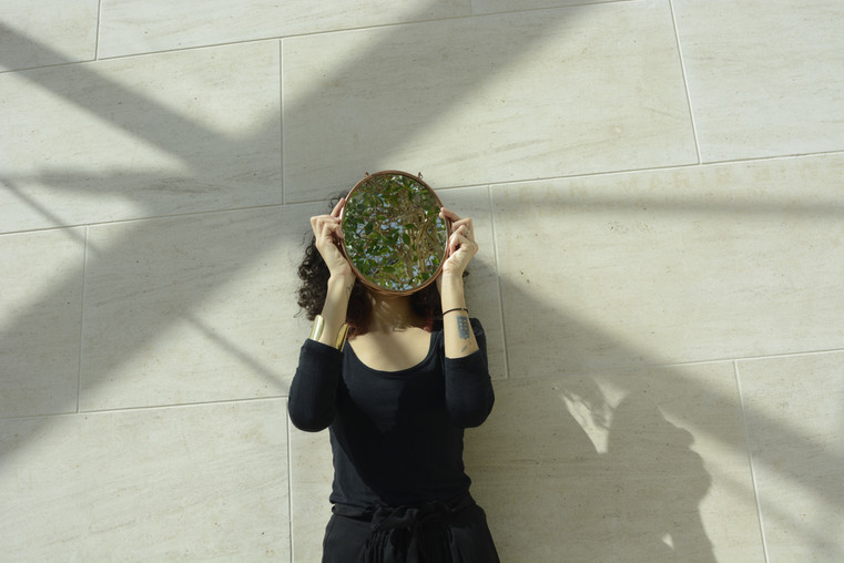 Mirror Girl at Mudam