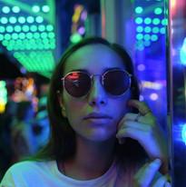 Justine at the funfair, 2019