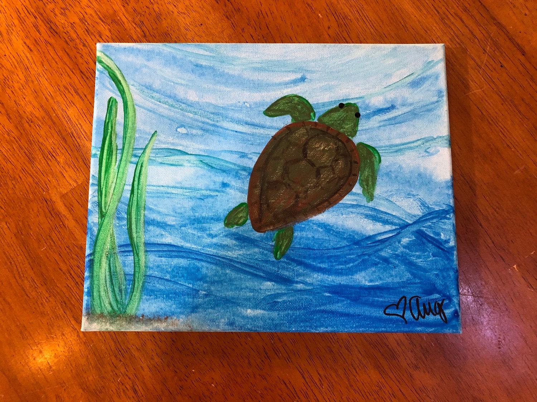 Aug 28- Kids Paint- TURTLES!