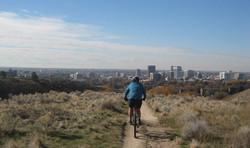 mountain biker Boise foothills