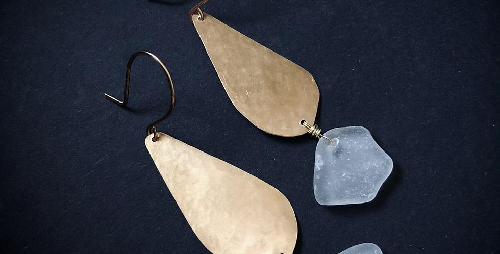 Sea Glass Earrings   No. 12
