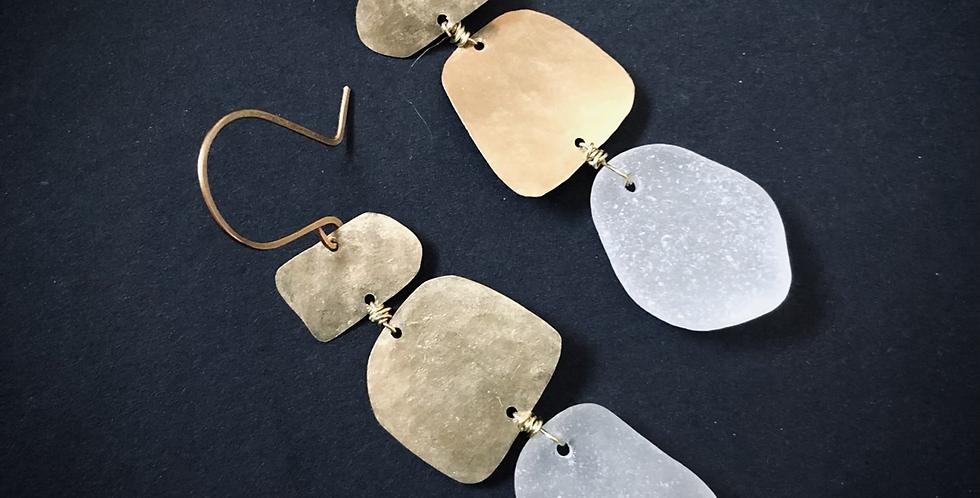 Sea Glass Earrings   No. 19