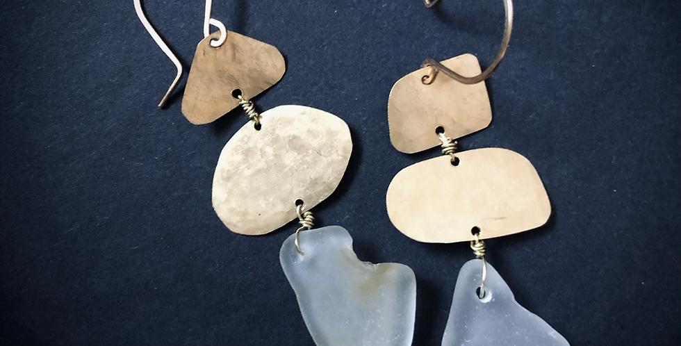Sea Glass Earrings   No. 14