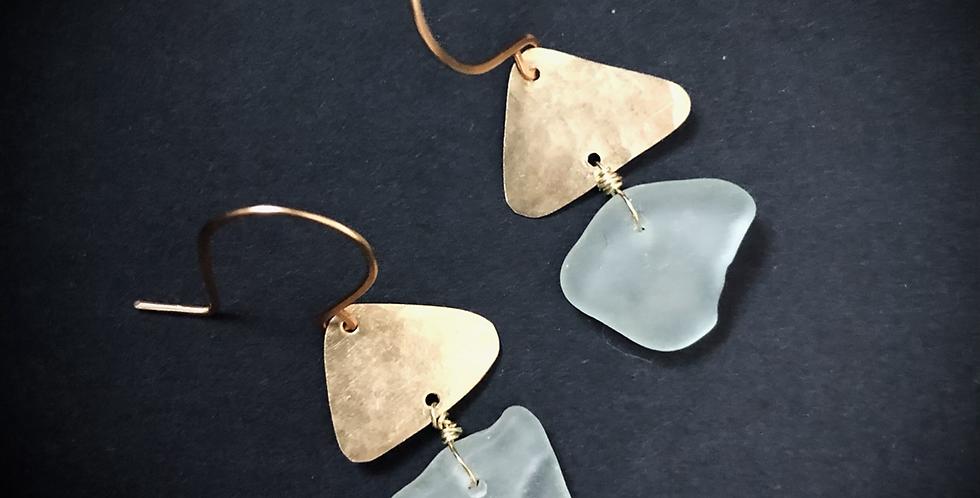 Sea Glass Earrings   No. 4