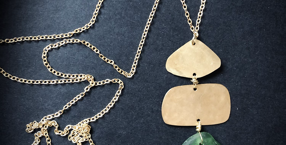 Sea Glass Necklace   No. 5
