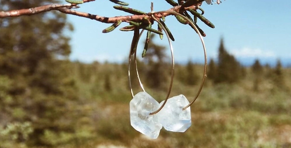 Raw & Wild Quartz Hoops