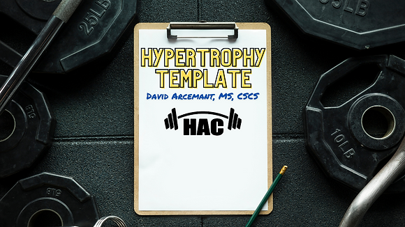 Hypertrophy Template