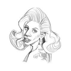Lady Gaga - clean sketch