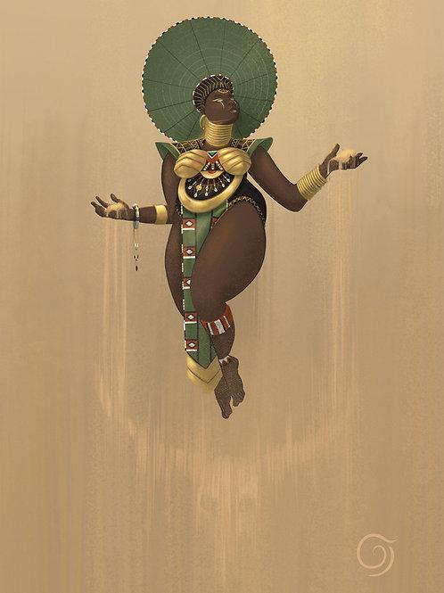 African Goddess Zulu Cow Skull