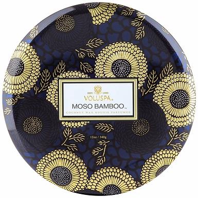 3 WICK TIN CANDLE-MOSO BAMBOO FRAGRANCE