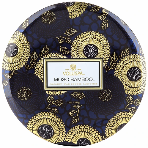 3 WICK TIN CANDLE-MOSO BAMBOO FRAGRANCE