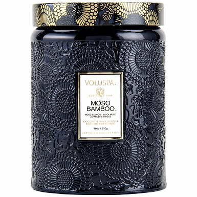 LARGE JAR CANDLE-MOSO BAMBOO FRAGRANCE
