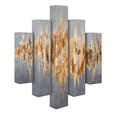 ESTOTERIC DIMENSIONAL OIL PAINTING - SET OF 5SS