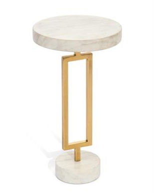 BRASS & MARBLE MARTINI TABLE