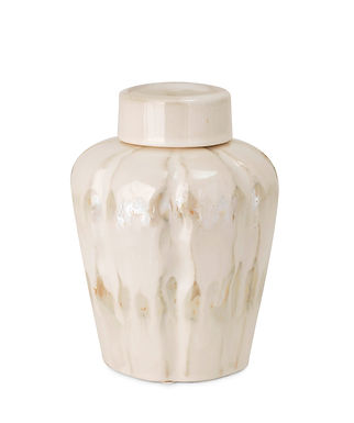 BLAISE LIDDED CERAMIC JAR-SMALL